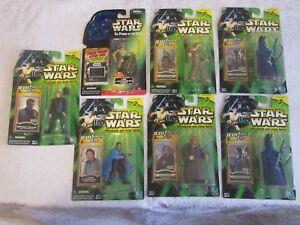 Hasbro-Star-Wars-Power-of-the-Jedi-Force-Lot-of-7-C-3PO-Coruscant-Lando-Obi-Wan