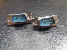 1 x PAIR - 9 Pin DSUB D-SUB DB9 Pin Male (Soldered)