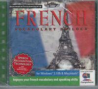 Sealed Beginner Intermediate French Vocabulary Builder For Windows & Mac Cd Rom