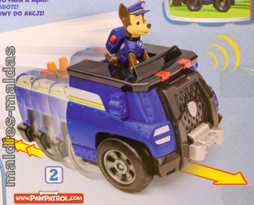 Paw Patrol Deluxe Transforming véhicule avec Chase One-a-Roll 20080288 Nouveau//Neuf dans sa boîte