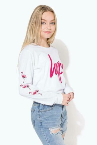 Hype White Flamingo Script Kids L//S T-Shirt