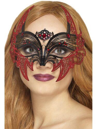 Disfraces Y Ropa De época Metal Filigrana Diablo Máscara Negro Para Adulto Para Mujer Dama Halloween Vestido De Fantasía Bulldoggin