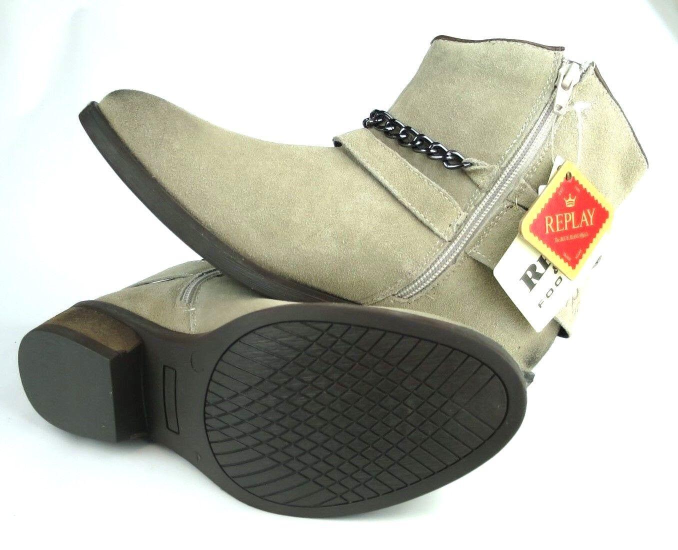 REPLAY KINGSTON Damen Leder Stiefelette Stiefelette Stiefelette Mädchen Schuhe Stiefel Woman Stiefel Beige 452ceb