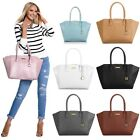 Joy & Iman City Satchel Leather Handbag Large Designer Zip Tote Purse Organizer