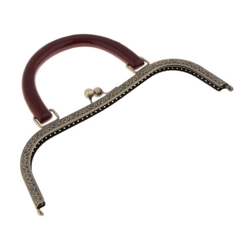 DIY Kuss-Verschluss Rahmen Taschenbügel Taschenverschluss Holzgriff 27x19,5