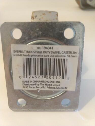 """Heavy Duty Steel Everbilt Industrial Duty Swivel Caster 2/"""" 4Pack"""