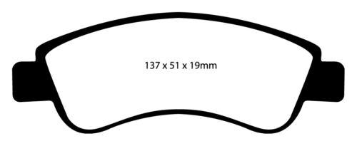 EBC Yellowstuff Sportbremsbeläge Vorderachse DP41374R für Peugeot 206 SW