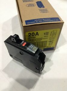 QO120-SQUARE-D-PLUG-IN-CIRCUIT-BREAKER-20A-1-POLE-120-VAC-3-4-034-Box-Of-10-NEW