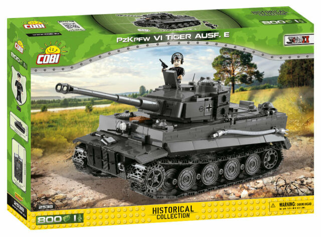 Cobi Small Army 2538 Panzerkampfwagen VI Tiger Ausf.E, 800 Teile