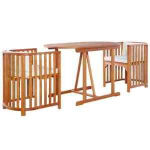 Détails sur vidaXL Mobilier de Jardin 7 pcs Bois d\'Eucalyptus Massif Salon  d\'Extérieur