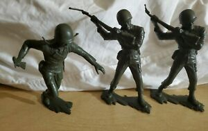 Lot-of-3-Vintage-Giant-Jumbo-Large-Approx-6-inch-Green-Plastic-Army-Men-Figures