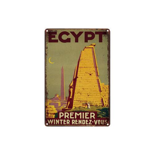 Metal Tin Sign egypt  Decor Bar Pub Home Vintage Retro Poster