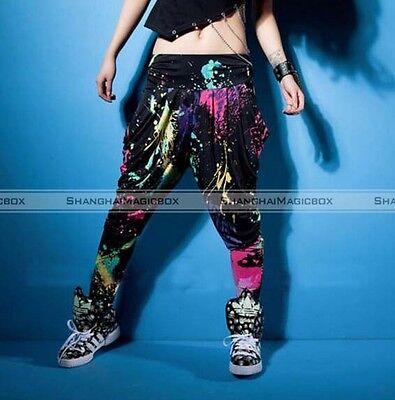 Colorful Women Harem Baggy Hip Hop Dance Sport Pants Casual Trousers Slacks