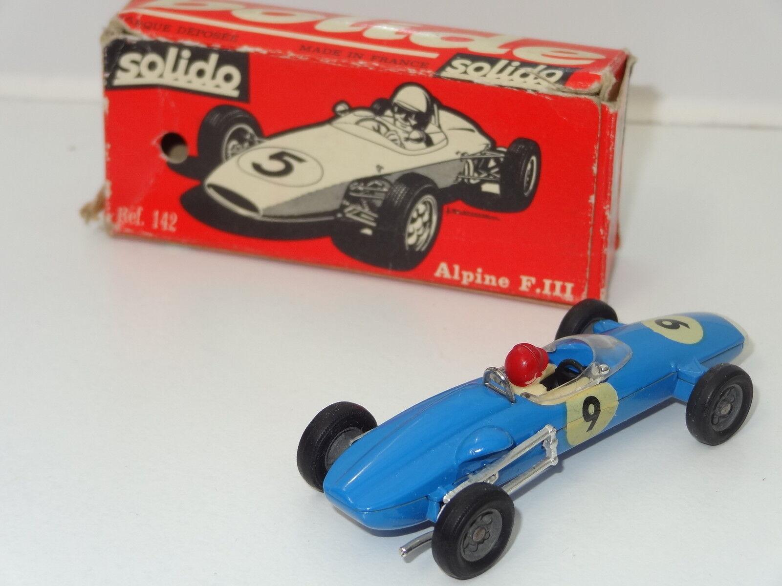 a precios asequibles Solido Alpine F111 - 142 142 142 En Caja  vendiendo bien en todo el mundo