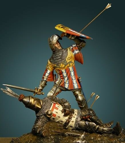 Arthur Count of Richemont Battle of Agincourt 54mm Tin Painted Soldier   Museum