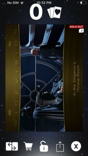 Topps Star Wars Digital Card Trader Gold Saga Widevision Throne Room Insert