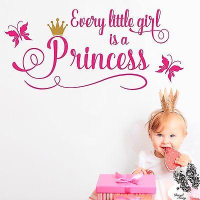 Wall Sticker Princess Girls Vinyl Decal Every little girl is a Princess