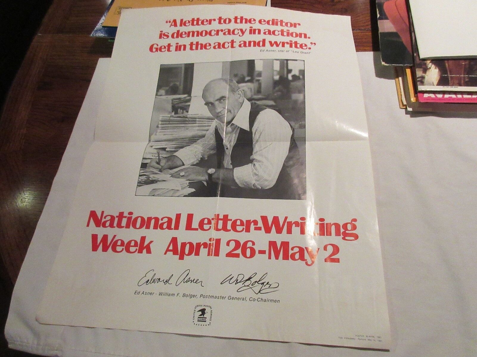 National Letter-Writing Week , April 26-May 2 ,1981 ,Ed