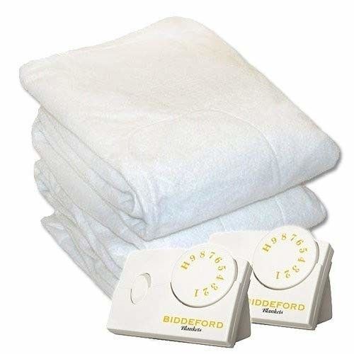 Biddeford 5902-908221-100 Electric Heated Mattress Pad Weiß Queen Imported