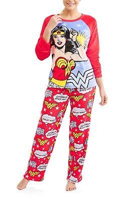 DC Comics Wonder Woman Womens 2XL(18W-20W) Soft 2 Piece Pajama Shirt/Pants Set