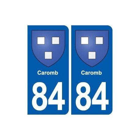 84 Caromb blason autocollant plaque stickers ville arrondis
