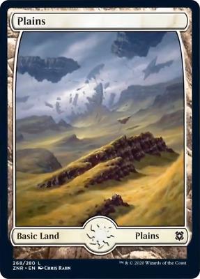 L NM//M 4x Plains #251 FULL ART x4 Battle for Zendikar MTG Magic -