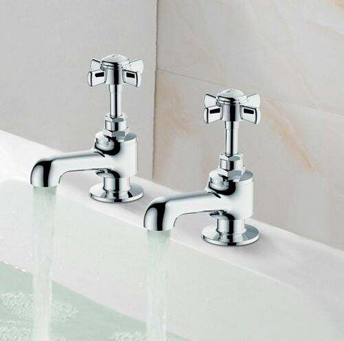 Cooke /& Lewis Classic Chrome finish Hot /& Cold Bath Pillar Tap Filler Pack of 2