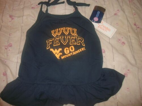 B54 NCAA West Virginia Mountaineers Baby Girl Dress size 6-12 months