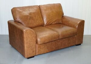 Chelsea 2 Seater Brown Leather Sofa