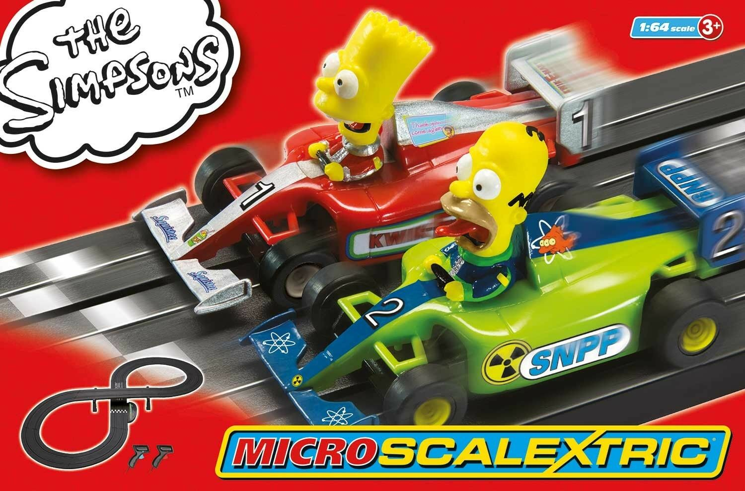Scalextric G1117T Set, Micro The Simpsons HO Size