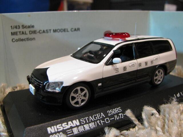 1 43 Kyosho NISSAN Stagea 250RS Coche de Policía (2002) Diecast