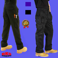 Mens Combat Cargo Work Trousers Size 30 to 54 With KNEE PAD POCKETS ? By BKS