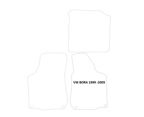 VW Bora RHD 1999-2005 BLACK /& SILVER EDGE Tappeti Tappetini AUTO con 4 Clip Ovale