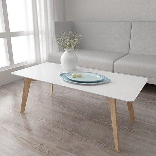 Furniture Scandinavian Coffee Table Retro Chic Design Lounge White Top Solid Wood Legs New Home Furniture Diy Coccinelli De