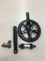 Motorized Bicycle Gas Frame 3 Piece Crank Set Complete