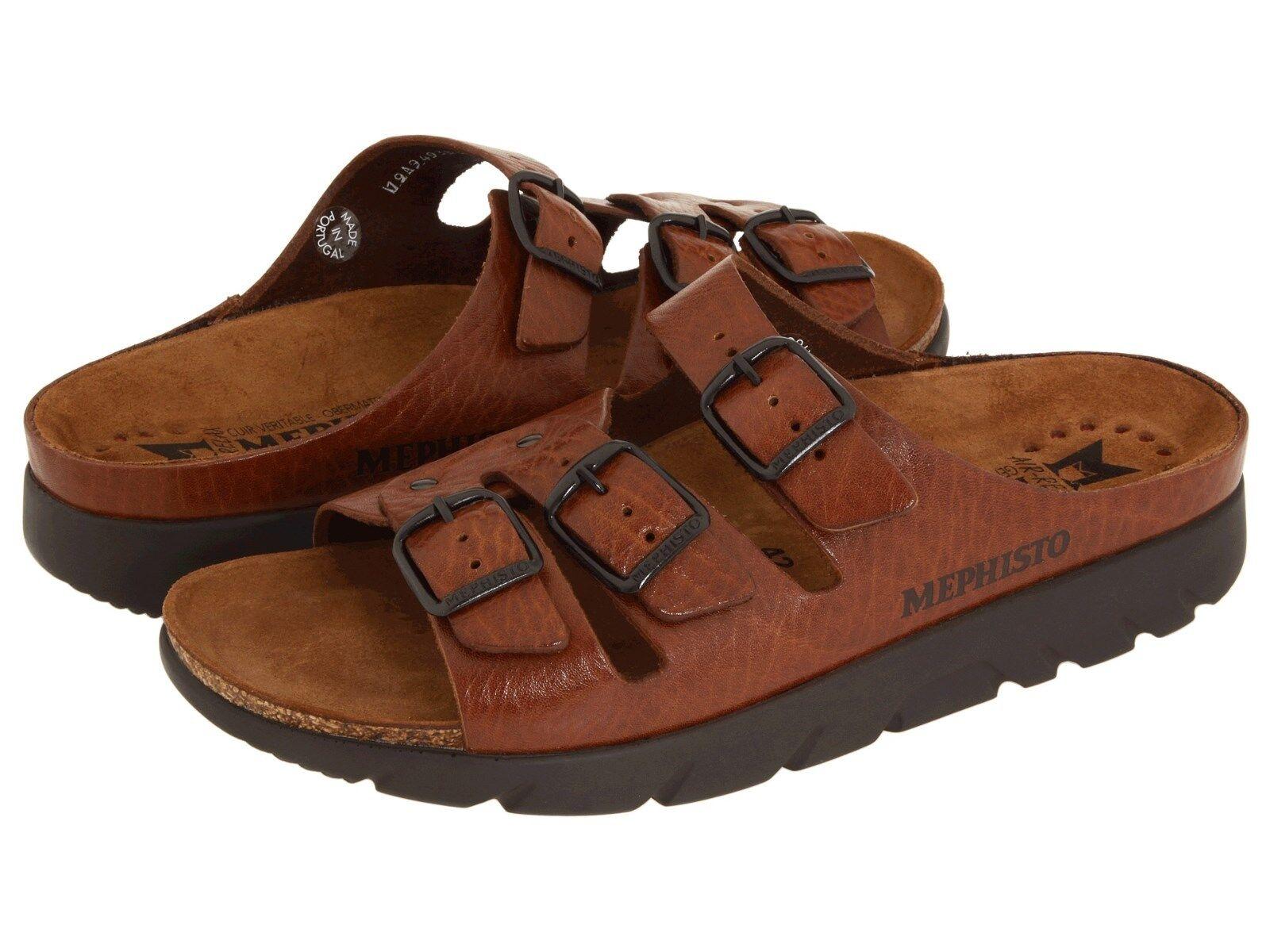 Mephisto Zach Fit Tan Grain Comfort Sandal Slide Mens 40-48 NEW