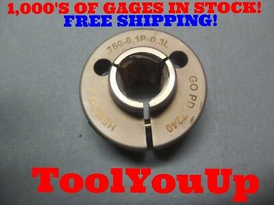 = 1.2160 INSPECTION TOOLS 1 1//4 0.1P 0.3L 2A THREAD RING GAGE 1.250 GO ONLY P.D