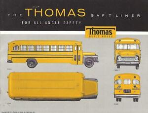 Details about Old Print  1957 Yellow Thomas School Bus
