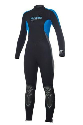 NEW 5//4MM BARE VELOCITY WOMENS FULL SCUBA DIVING WETSUIT SIZE 12T BLUE