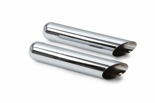 1987-1994 Ford F150 F250 Dual Exhaust Kit Flow II Stainless Muffler Chrome Tips