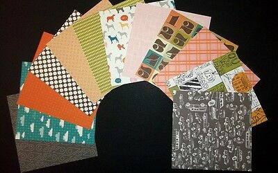 "AMERICAN CRAFTS PAPER PACK 4 for Scrapbooking/Cardmaking  15cm x 15cm (6"" x 6"")"