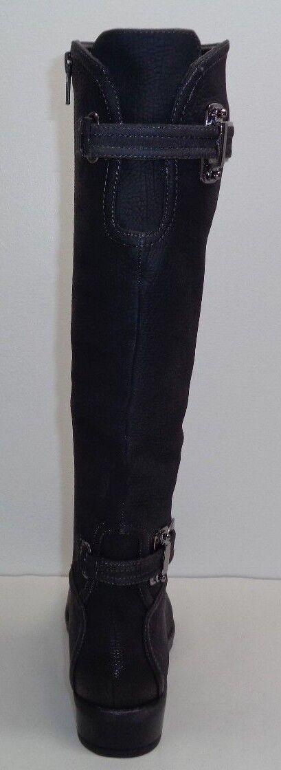 Antonio Antonio Antonio Melani Size 7 NEERA Eagle Grey Leather Knee High Boots New Womens shoes 20c210