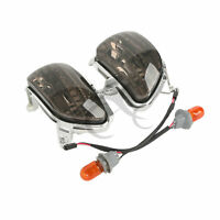 Abs Smoked Front Turn Signal Lights Blinker For Honda Goldwing Gl1800 2001-2014