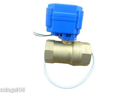 "motorized ball valve G3/4"",DN20(reduce port) 12V, 2 way, electrical valve"