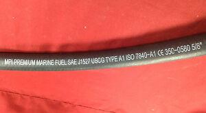 "FUEL HOSE 5/8"" USCG A1 7840-A1 MPI PREMIUM MARINE VENT GAS DIESEL 350-0580"