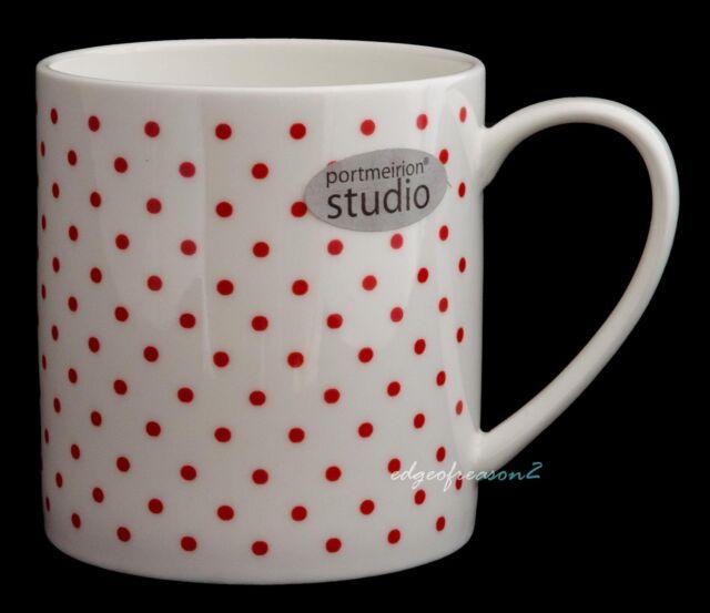 Portmeirion Studio Polka Dot Mug Red With White Dots | eBay
