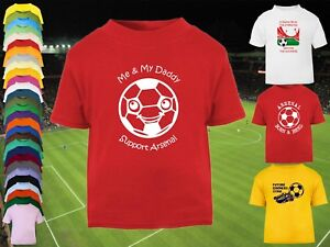ARSENAL Football Baby Kid s Children s T-shirt Top Personalised -Any ... 730226fc516d1