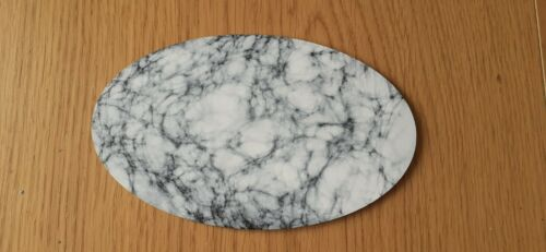 Horus Heresy//40k Space Marine//Custodes 120x90mm Oval Base White Marble x 1