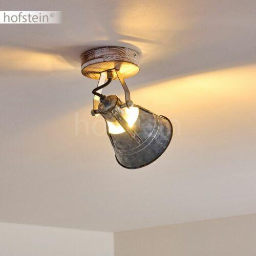 Flur Strahler zinkfarben Wohn Schlaf Zimmer Beleuchtung Vintage Decken Lampen