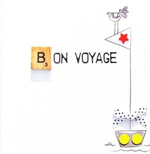 Image Is Loading Bon Voyage Bexyboo Scrabbley Neon Birthday Card Handmade